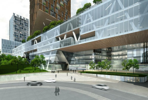 The Extension of The People's Hospital of Futian by Leigh & Orange