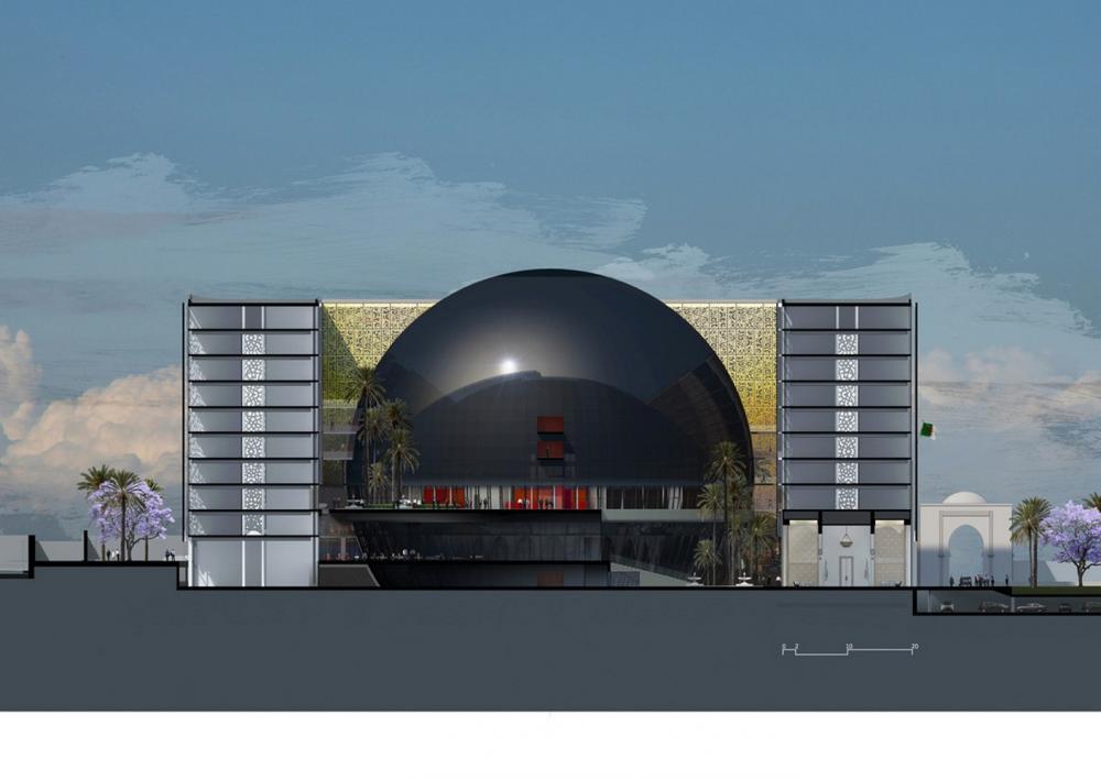 New algerian parliament in algiers algeria by bureau - Bureau architecture mediterranee ...