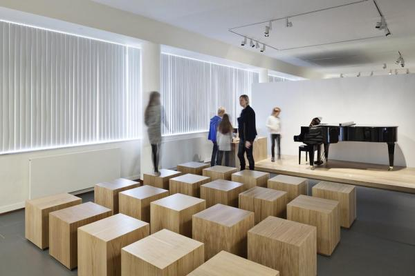 Open lecture space, Image Courtesy © Laura Stamer
