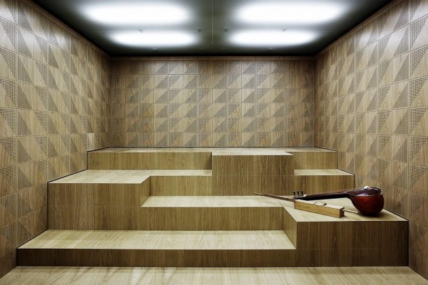 Stepped seating in sound space for orchestra, Image Courtesy © Kaare Viemose
