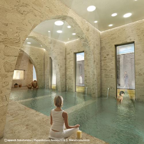 Spa, Image Courtesy © sparch Sakellaridou/ Papanikolaou Architects & Ch. Marathovouniotis