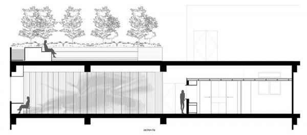 Section Aa, Image Courtesy © Laboratory for Explorative Architecture & Design Ltd