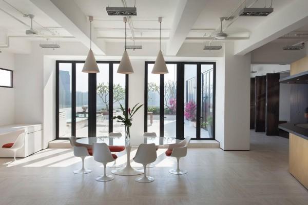 Dining area, Image Courtesy © Dennis Lo Designs