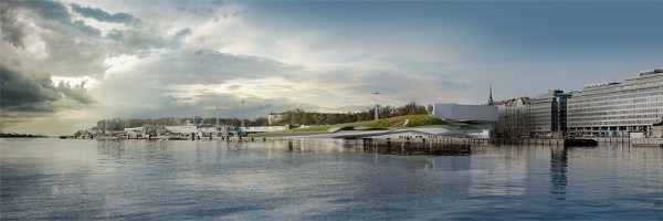 View From North Market Area - Museum Defines Southern End of New Pedestrian District, Image Courtesy © PLUS-SUM Studio