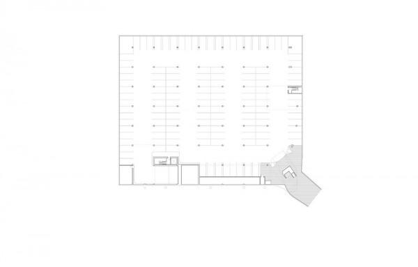 Plan level -01 - Parking and Park Path Connection,Image Courtesy © PLUS-SUM Studio
