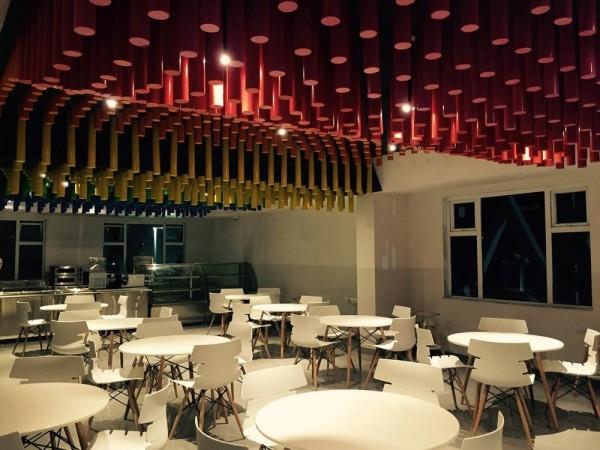 NTS Interiors cafeteria, Image Courtesy © Ravi Kanade