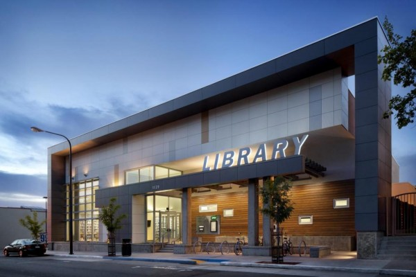 The library is the first certified Living Building Challenge Zero Net Energy public library in California and is on track to produce more energy than it consumes, Image Courtesy © Harley Ellis Devereaux