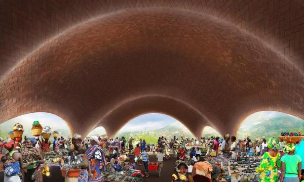 Droneport interior community, Image Courtesy © Foster + Partners