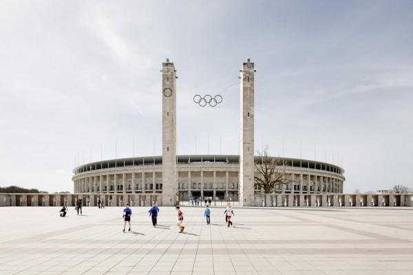Main view from Olympischer Platz, Image Courtesy © Marcus Bredt