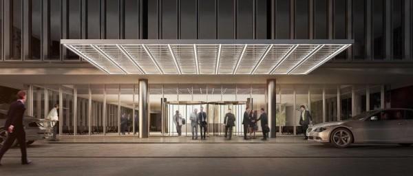 Entrance perspective, Image Courtesy © gmp Architekten von Gerkan, Marg und Partner
