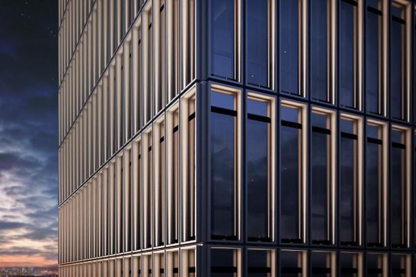 Glazed double façade, Image Courtesy © gmp Architekten von Gerkan, Marg und Partner
