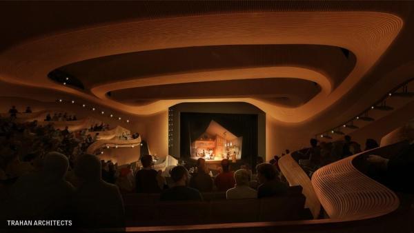 Theatre From Balcony, Image Courtesy © Trahan Architects