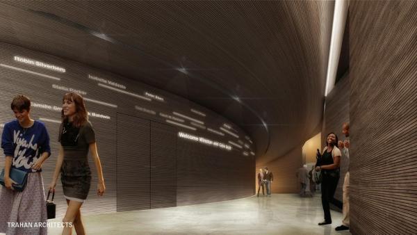 Theatre Lobby, Image Courtesy © Trahan Architects