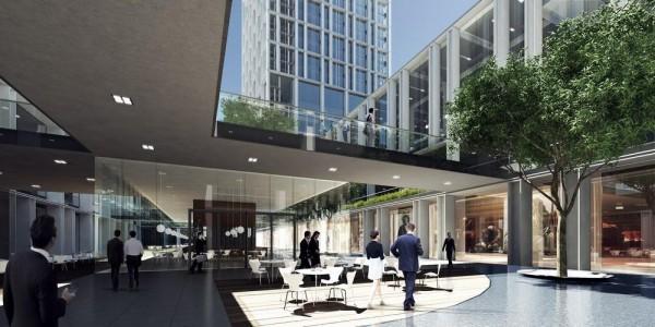 Garden area canteen, Image Courtesy © gmp Architekten von Gerkan, Marg und Partner