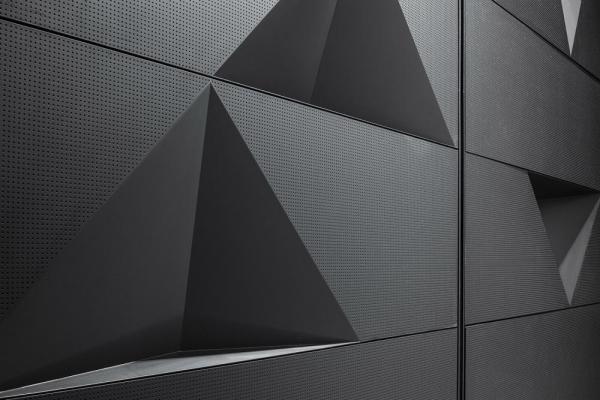 wall modulation detail, small theater hall , Image Courtesy © Tuomas Uusheimo