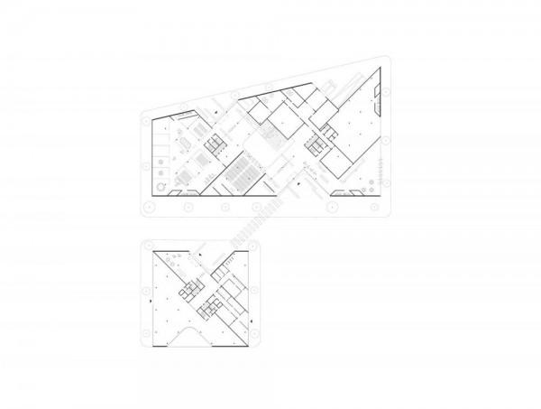 Floorplan, 1st floor, Image Courtesy © HENN