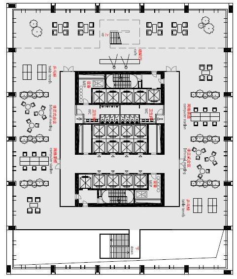 Floor plan, skygarden, Image Courtesy © gmp Architekten von Gerkan, Marg und Partner