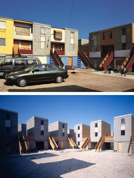 Quinta Monroy Housing, 2004, Iquique, Chile. Photos by Cristobal Palma.