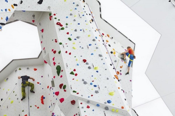 Interior view - climbing walls, Image Courtesy © Rene Riller