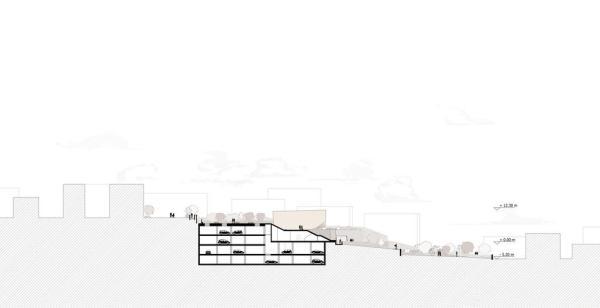 Section, Image Courtesy © 3TI PROGETTI + 3TI_LAB