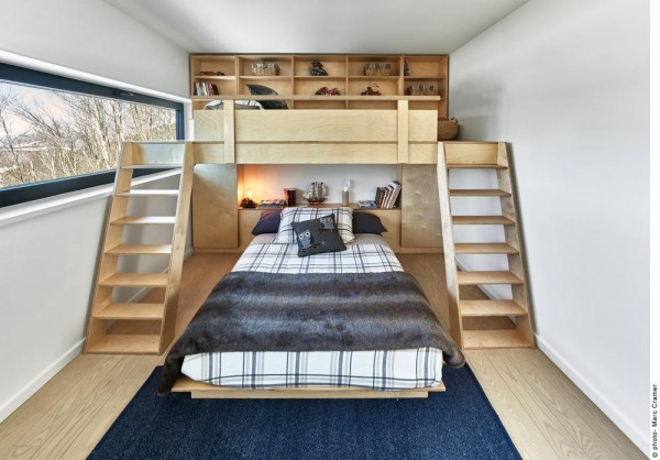 Kid's bedroom with custom bunkbed, Image Courtesy © Marc Cramer