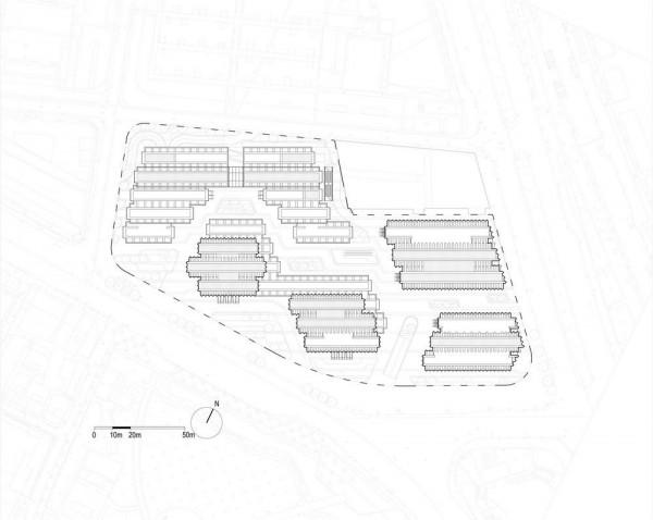 Siteplan, Image Courtesy © gmp Architekten von Gerkan, Marg und Partner