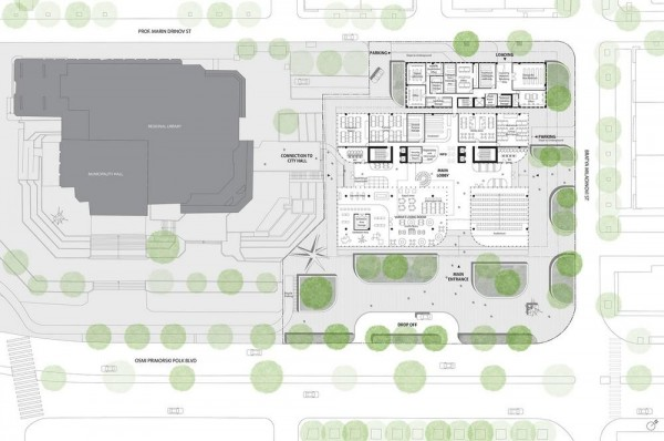ground floor plan, Image Courtesy © Spatial practice