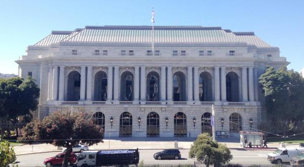War Memorial Veterans Building - Van Ness Avenue facade, Image Courtesy © San Francisco Public Works