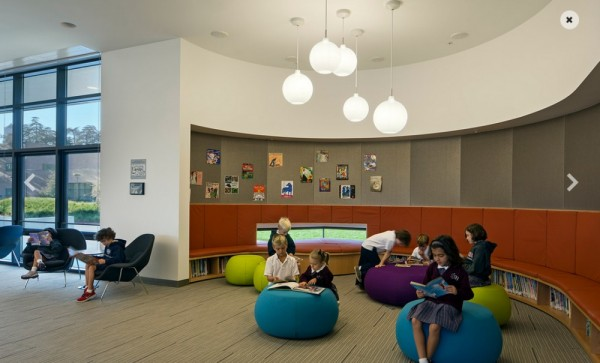 Adaptable floor plan with modular furniture that can be easily reconfigured into different learning areas, Image Courtesy © WRNS Studio
