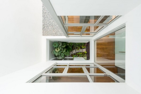 View from upper level to Courtyard garden, Image Courtesy © IX Architects Pte Ltd