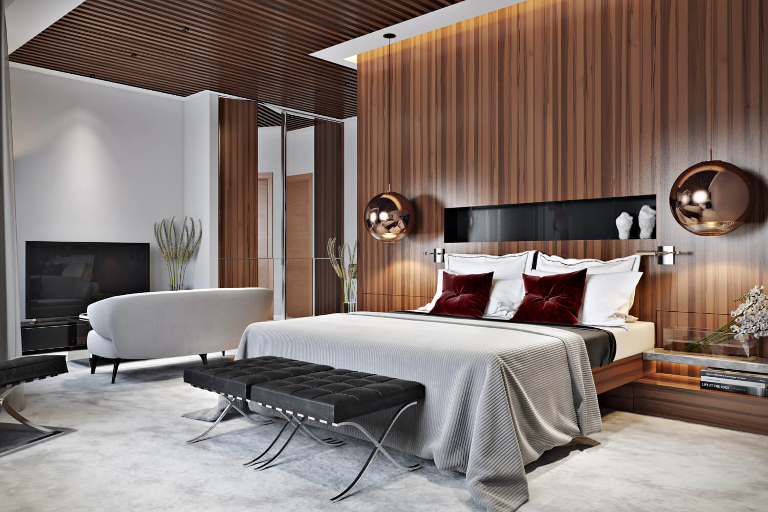 Rendering Interior Design For Bedroom In New York By Archicgi