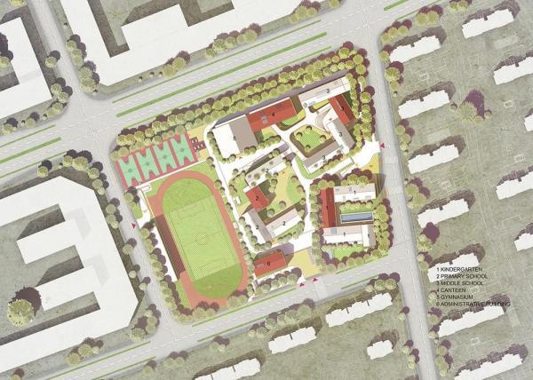 Site Plan, Image Courtesy © LYCS Architecture
