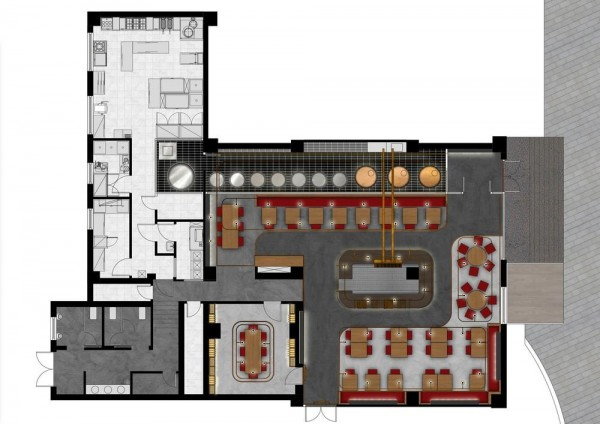 Archshowcase dongli brewery in beijing china by latitude for Brewery floor plan