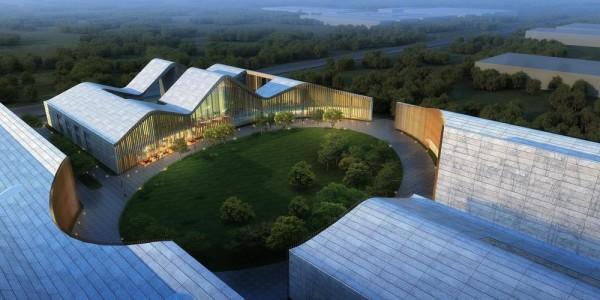 Central Plaza - aerial view, Image Courtesy © Hui Jun Wang, Yuan-Sheng Chen, Florian Pucher, Milan Svatek, Christian Junge
