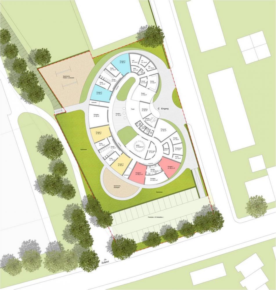 kindergarten in koblenz germany by herrmanns architekten. Black Bedroom Furniture Sets. Home Design Ideas