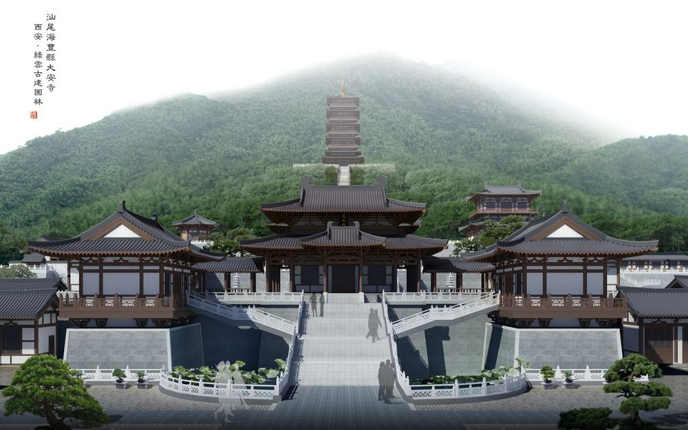 Image Courtesy © Shaanxi Lvyun Ancient Landscape Architecture Engineering  Co., Ltd