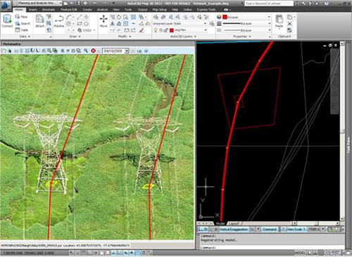 Giscafe giscafe voice pictometry integration for autocad map 3d 2012 allows users to plan and design assets without leaving the map 3d environment sciox Images