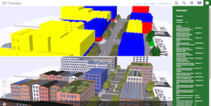 Esri CityEngine allows users to visualize both qualitative and quantitative impact of design scenarios, perfect for the integrative planning needs of those looking to develop vibrant, sustainable communities.
