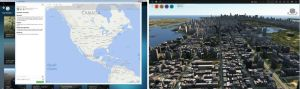 The InfraWorks 360 Model Builder cloud service allows users to select a city-scale area from a map of the world in order to generate 3D city models in minutes.