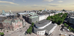 Innovation in Reality Modeling Winner: City of Helsinki – Helsinki 3D+ – (Helsinki, Finland). Image Courtesy of Bentley Systems