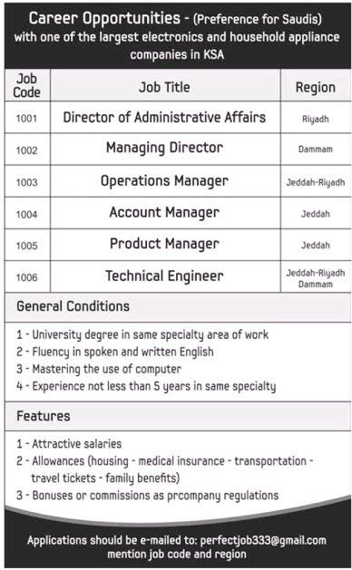 وظائف مدراء , مسؤلين , مهندسين , مندوبين , مستشارين , محاسبين , اخصائيين , مراقبين 2