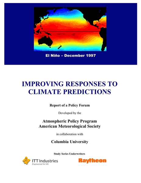 Responding to Climate Predictions - American ...