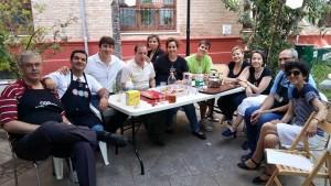 Juntos a la mesa en la Fiesta Solidaria de Granada