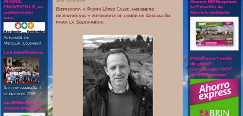 Entrevista a Pedro López en Solidaridad Express