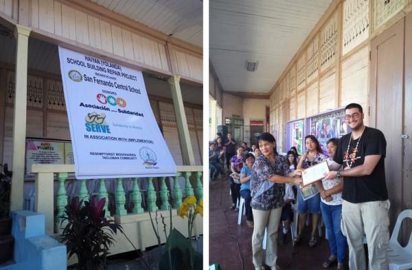 Ceremonia de agradecimiento en la Escuela San Feranndo de Tacloban. Foto: Alfonso Lora.