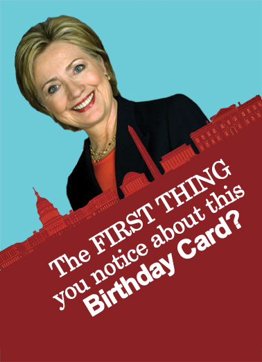 Funny Birthday Ecard Crooked Hillary From