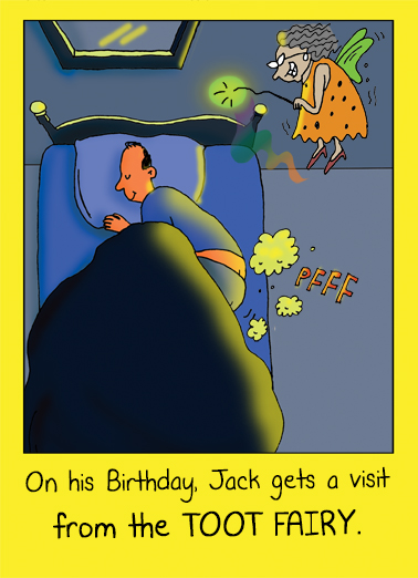 Funny Birthday Card Toot Fairy From
