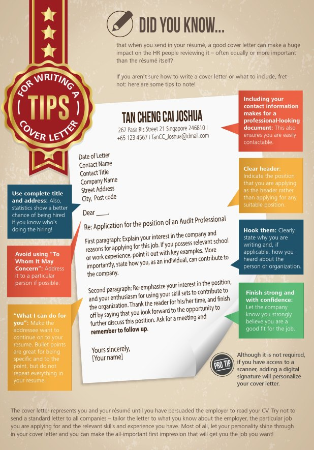 tips for cover letter writing tips for writing a cover letter deloitte singapore careers 25291 | sg careers students tips for writing a cover letter infographics