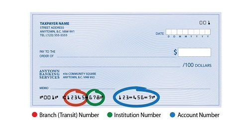 Sample image of a personal cheque.