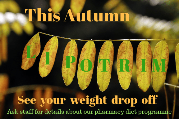 Autumn leaf pharmacy Lipotrim poster - Lipotrim leaves landscape